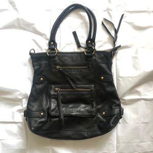 NWOT Linea Pelle Black Leather Dylan Tote
